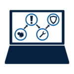 Managed Cybersecurity Advanced Threat Detection Icon