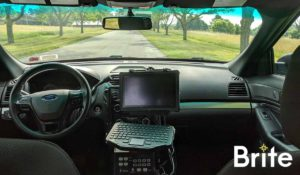 Getac F110 with a Gamber-Johnson Dock in a Ford Utility