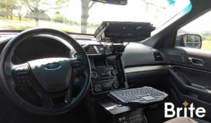 Getac V110 with a Havis Dock in a Ford Utility - Dock Ports