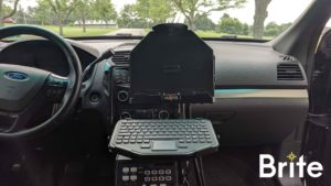 Getac A140 with a Havis Dock in a Ford Utility - Dock Only