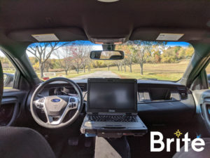 Getac B360 with a Gamber-Johnson Mount in a Ford Inceptor Sedan